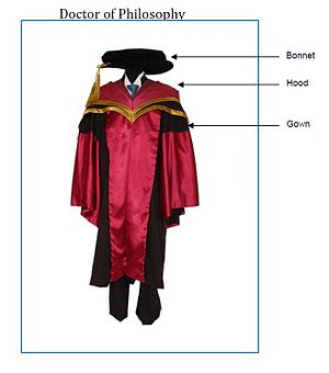 Academic dress for Phd in Singapore with descr...
